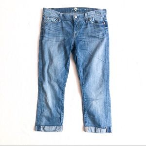 Like New 7FAM the Skinny Crop & Roll Jeans